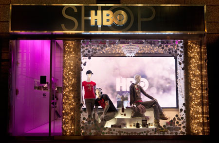 HBO Shop Holiday window display