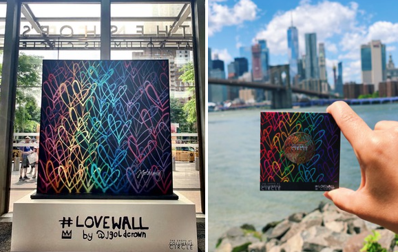 lovewall installation nyc pride
