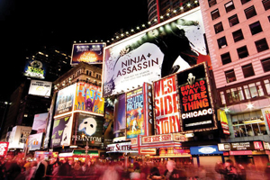 Times Square, Broadway shows