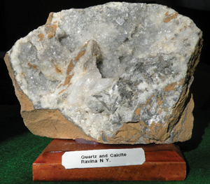 quartz and calcite rock from new york