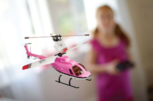 RC Pretty and Pink helicopter; remote controlled helicopter, pink