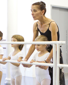 Joffrey Ballet School; young ballerinas in dance class