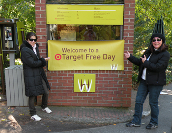 Wave Hill front gate, Bronx; Target Free Day