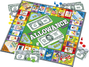 Allowance board game; The Allowance Game