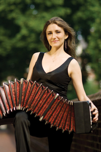 Lidia Kaminska playing accordion
