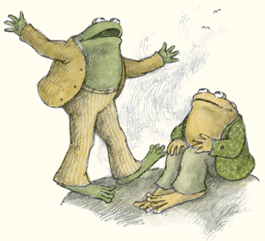 drawing of frog and toad