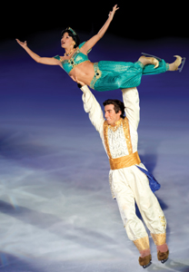 Disney on Ice Princess Wishes; Jasmine and Aladdin ice skating
