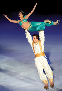 Disney on Ice presents Princess Wishes; Aladdin and Jasmine skating