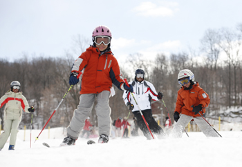 mountain creek ski school; young skiers