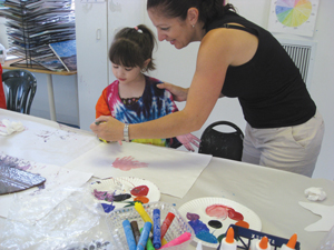 Creative Arts & Expression; arts and crafts class, kids