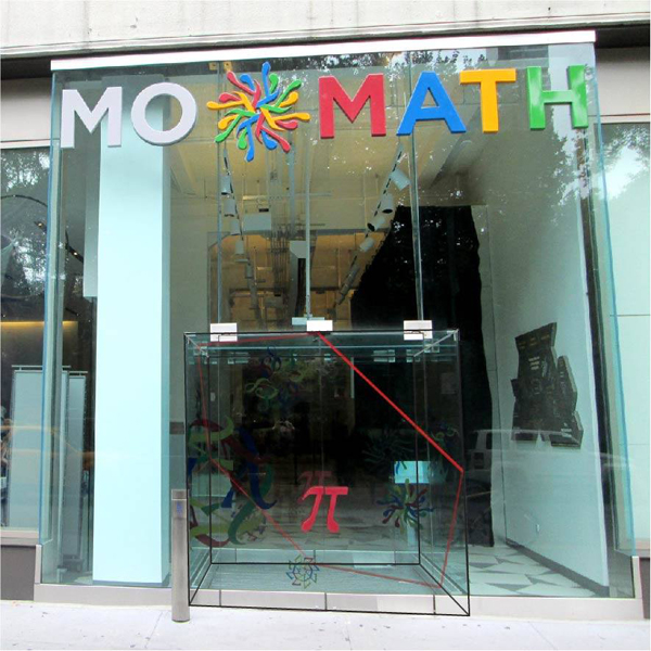 The entrance to the National Museum of Mathematics.