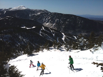 Smugglers Notch, Vermont; family skiing