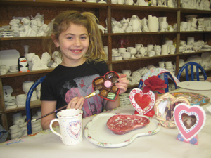 Valentine's Day card making, crafts