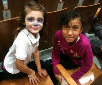 students at PS 84 in Brooklyn perform Where the Wild Things Are