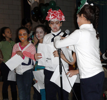 """students at PS 84 perform """"Where the Wild Things Are"""""""