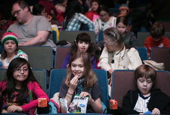 BAMKids Film Festival; kids in movie theater