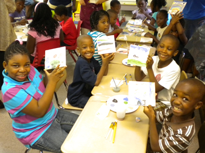 Students at PS 30 in Rochdale, NY; afterschool program