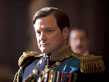 "Colin Firth as King George VI in ""The King's Speech"""