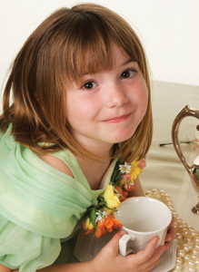 little girl at high tea