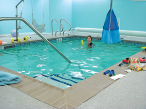 bergen pediatric therapy center; therapeutic pool; aquatic therapy