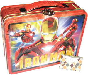 Iron Man lunchbox; lunch tin