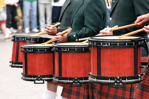 St. Patrick's Day parade; Irish drummers