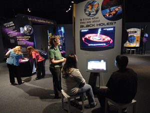 Black Holes: Space Warps & Time Twists, museum exhibit; Yale Peabody Museum of Natural History