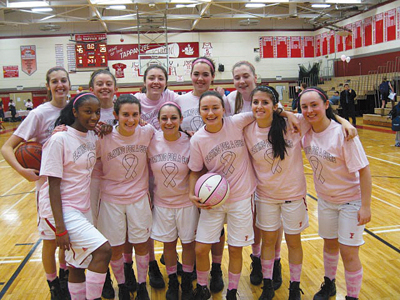 Tappan Zee girls' basketball team, play for a cure