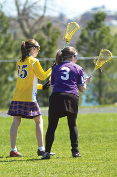girls' lacrosse, high school players