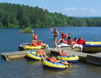 Camp Pocono Trails in Reeders, PA; summer camp at the lake