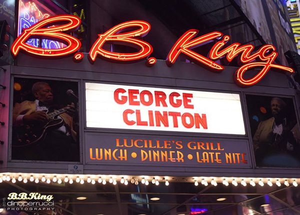 Front signage at Lucille's Bar & Grill at B.B. King Blues Club & Grill.