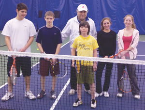 Match Point Tennis Club; kids playing tennis
