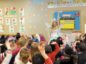 tooth fairy visits elementary school classroom