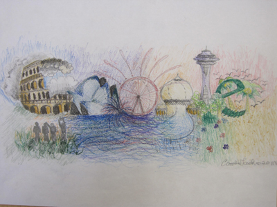 Doodle 4 Google - to travel the world by Caitlin Taduran