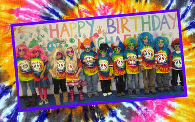 Tie Dye Town birthday party