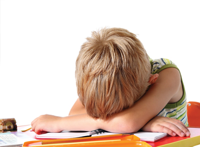 child frustrated with homework; homework meltdown; schoolwork stress