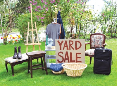 yard sale; garage sale