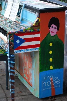 Sing for Hope street piano, nyc
