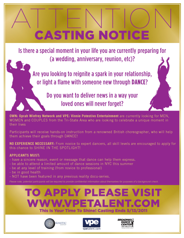 dance casting call