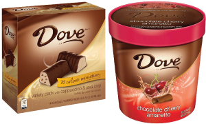 Dove indulgences; Dove ice cream, ice cream bars