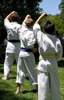 tae-kwon-do-kids; children-practicing-martial-arts
