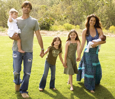 Brooke Burke and family