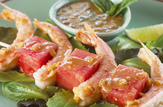 shrimp watermelon sate