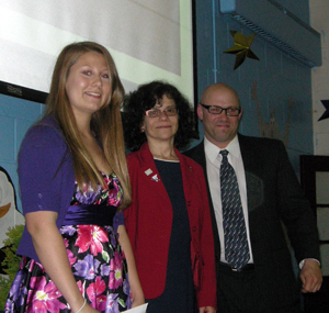 Erika Gould of Tappan Zee, NY, received a $500 bond at the Culinary Banquet.