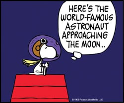 To the Moon: Snoopy Soars with NASA