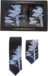 Dapper Dude tie set in tree design