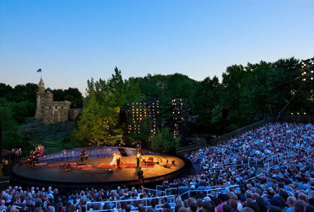 Shakespeare in the Park at Central Park's Delacorte Theater in NYC