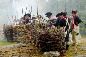 Revolutionary War battle re-enactment