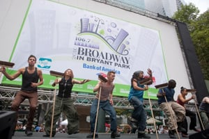 STOMP, Broadway in Bryant Park