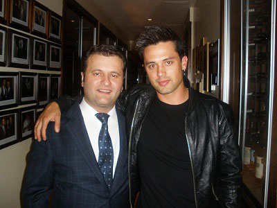 Stephen Colletti dines at Benjamin Steakhouse in NYC